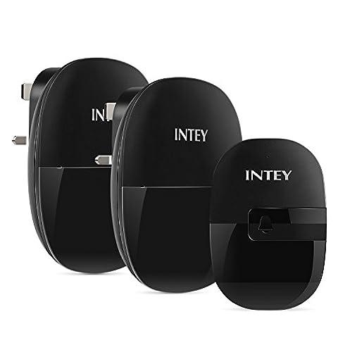 INTEY Wireless Door Bell Chimes Kit - Black