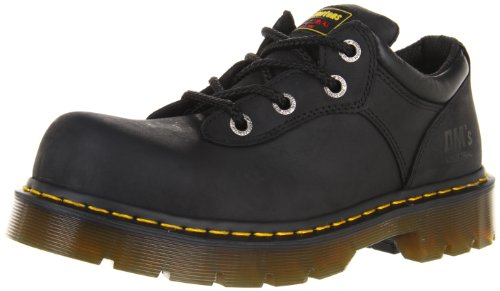 Black Greasy Leather Boot (Dr. Martens Naseby ST Work Boot,Black Industrial Greasy,3 UK/5 M US Women's/4 M US Men's)