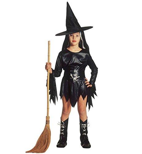 Hexenkostüm für Mädchen, Kinderkostüm für Fasching, Karneval, Halloween, Kleid mit Hut, Größe (Spielen Kostüme Xxx)