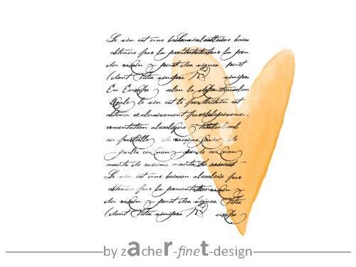 Sehr großer Vintage Typostempel alte Handschrift - Shabby chic style - Motivstempel - Bilderstempel - Textstempel
