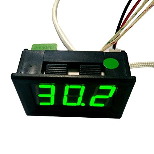 SO-buts LED-Temperaturfühler DC12V Thermoelement K Typ -30~800 ° C Hochtemperatur-Digitalthermometer (SchwarzC) -
