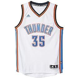 adidas Basketball Oklahoma City Thunder Swingman Trikot, Camiseta para Hombre, Multicolor (Blanco/Azul), L
