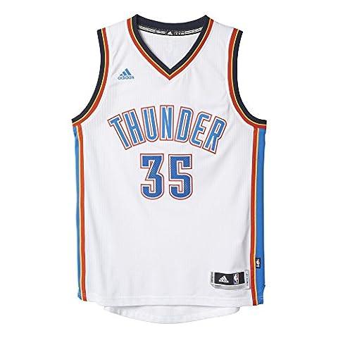 Adidas Maillot de basketball Oklahoma City Thunder Swingman pour homme L blanc/bleu