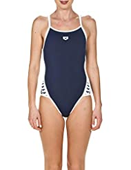 arena W Team Stripe Super Fly Back One Piece Maillot de Bain Femme