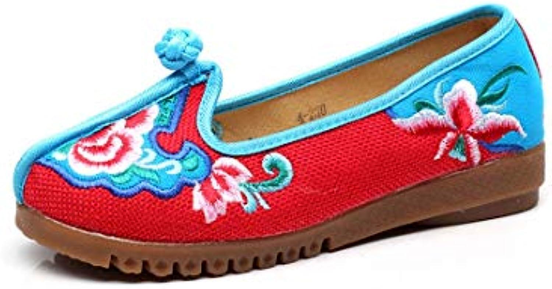 Bordado Zapatos/Alpargatas/ Merceditas/Zapatos Bordados de Tela Zapatos de Mujer Retro de Viento Chino