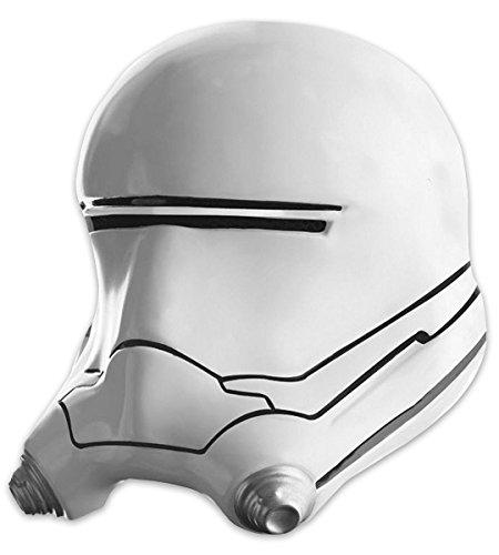 Flametrooper für Erwachsene / 2-teiliger Helm weiß, bedruckt in Einheitsgröße (Luke Skywalker Kostüm The Force Awakens)