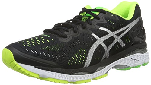 asics-gel-kayano-23-mens-running-shoes-multicolor-black-silver-safety-yellow-9-uk