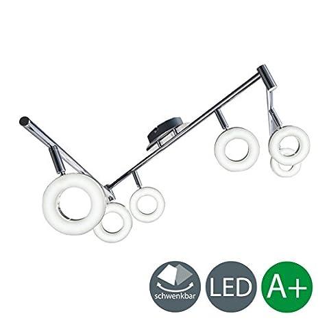LED Deckenleuchte Schwenkbar Inkl. 6 x 4W Leuchtmittel 230V IP20 LED Deckenlampe LED Deckenstrahler LED (Indice Sistema)