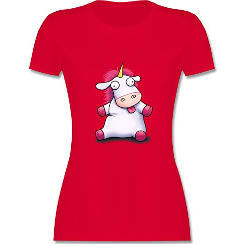 Comic Shirts - Süßes, flauschiges Einhorn - tailliertes Premium T-Shirt mit  Rundhalsausschnitt für