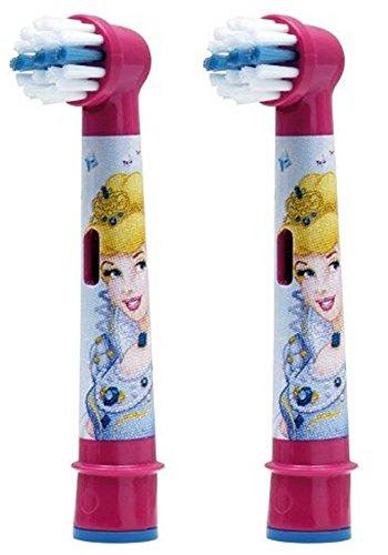 Braun Oral-B Stages Power Kids Ersatz-Zahnbürstenköpfe, Design: Disney-Prinzessin