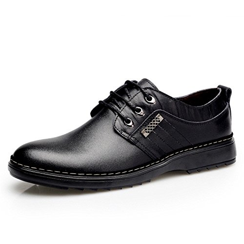 Men's Genuine Leather Low To Breathable Oxford Shoes as picture like