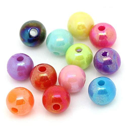 Db (200Unidades Perlas Cuentas Mixtas Decorativas divisores esparcidores Redondas 6mm