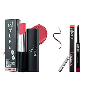 Nelf 9 To 6 Lipstick, You are My Valentine, 30g and Lip Definer, Berry Berry, 1g