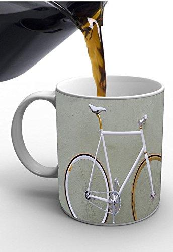 Mesleep antiquariato bicicletta stampato tazza di ceramica tè grigio o tazze di caffè tazze accessori da cucina anniversario articolo da regalo