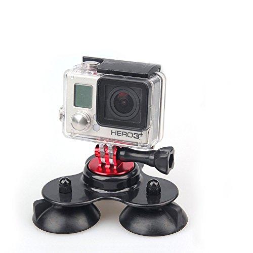 MegaGear Auto Saugnapf Kamera - Halterung Drei Vakuum - Basis für GoPro HERO5, GoPro, GoPro HD, GoPro Hero3+, GoPro HERO4, Sj4000, Sj5000 (Vakuum-objektiv)
