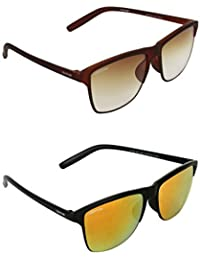 21d43223ea2e 3 out of 5 stars 1 · Creature Brown   Yellow Wayfarer Sunglasses Combo with  UV Protection (Lens-Brown   Yellow