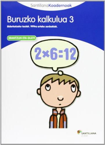 BURUZKO KALKULUA 3 SANTILLANA KOADERNOAK - 9788498944297