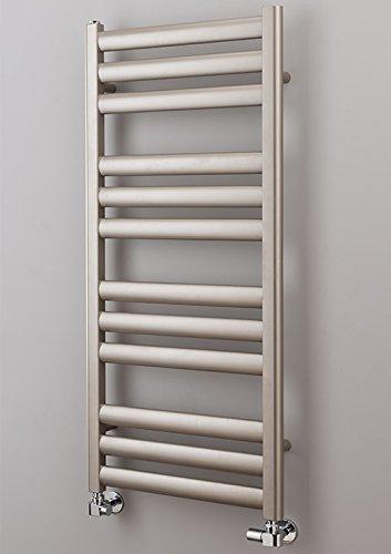 miss-vanity 50mm x 25mm Stahl Handtuch Leiter Schiene Platinum 830x 5009Elemente–Dual-Fuel Option 2–Standard Hitze Element & Thermostatventile