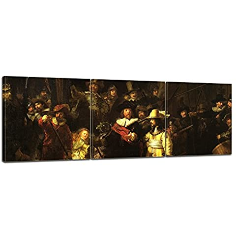Bilderdepot24 Wall Art - Canvas Picture Panorama Rembrandt - Old Masters