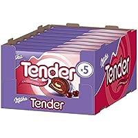 Milka Tender à la Schwarzwälder Kirsch - Biskuit Rolle mit Milchcreme, Kirschmarmelade und Alpenmilchschokolade - 5er-Pack - 8 x 185g