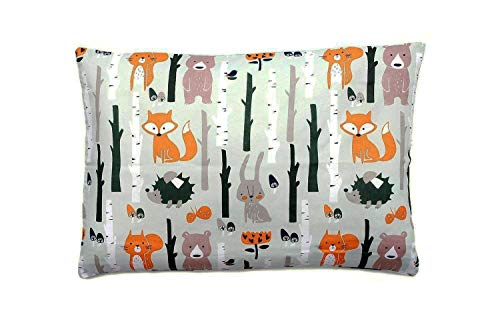 Kissenbezug 40 x 60 cm mit Reißverschluss, Kissen Bezug aus 100% Baumwolle, hergestellt in Europa (Wald) -
