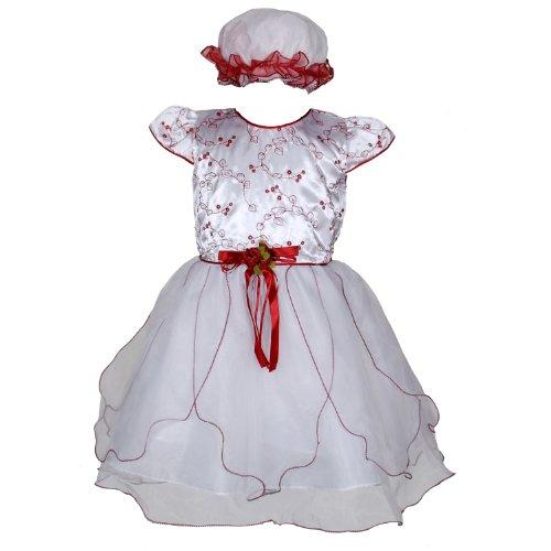 cinda-robe-de-fete-avec-bonnet-pour-bebe-blanc-et-rouge-3-6-mois