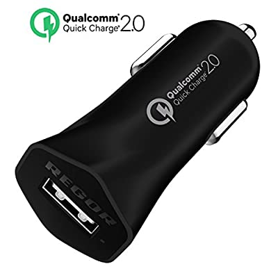 [Qualcomm Certified] Regor Quick Charge 2.0(18W) 1 PORT Car Charger for smartphones&tablets