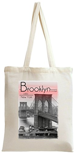 Brooklyn Bridge 1883 New York Tote Bag (Brooklyn Bridge 1883)