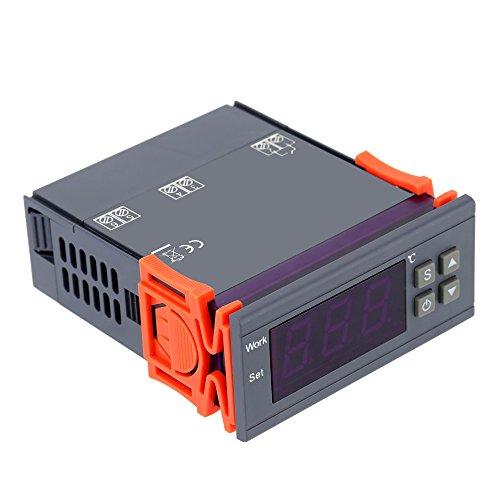 KKmoon Controlador de Temperatura Relés con Sensor 0~250V 10A ,-50~110 Grado Centígrado...