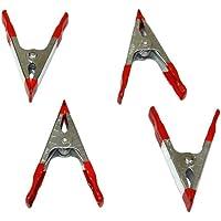 Aerzetix - Set di 4 mini pinze a molla SL4 morsetti pinza morsetto a coccodrillo da falegname 10 cm.