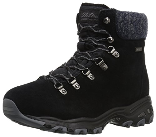 Skechers Damen D'Lites Stiefel, Schwarz (Black), 39 EU (Winter Stiefel Skechers)