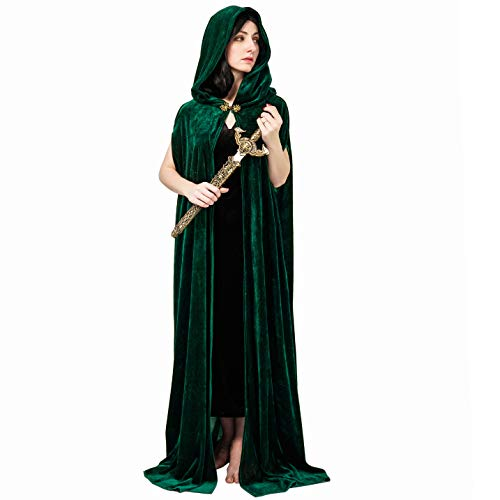 SEA HARE Damen Wizard Cape Fancy Dress (Grün)