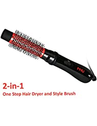 MHU Hair Dryer Brush | One Step ionic hairdryer & hot air styling brush 750W | 32mm Ceramic Salon Hair Dryer and Volumiser