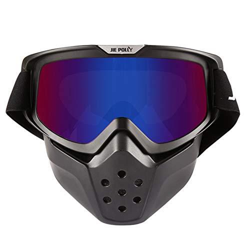 Abellale Shark-Motorrad-Schutzbrillen-Maske, Jahrgang-Motocross-Sanddicht-Außenlokomotive Off Road Brille Bunt