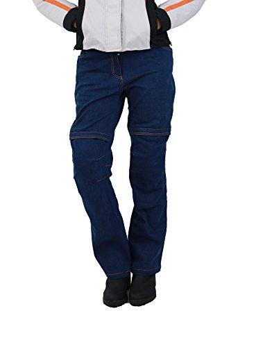 Nerve Ata Damen Motorrad Jeans Hose, Blau, 38