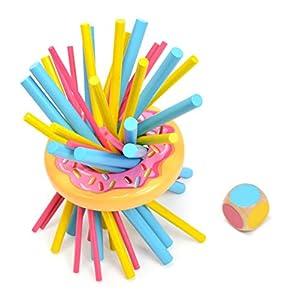 DARPEJE- Atencion Lanza El Dado Y Retira Suavemente Color Correspondiente. Cada Palito Tiene Un Valor. Cuando Cae El Donut Se Termina La Partida de Toys & Fun-Sycomore Faujas (TNUT001)
