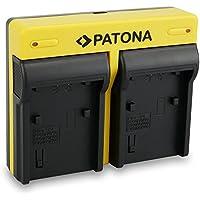 PATONA Dual Cargador Sony NP-FP90 FP100 FH50 FH70 FH90 FH100 FV50 FV70 FV90 FV100 con micro USB
