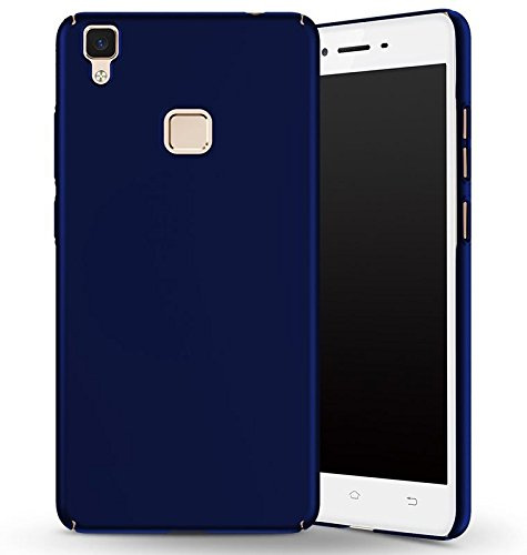 SDO™ Slim Matte Finish Rubberized Hard Back Case Cover for Vivo V3 (Blue)