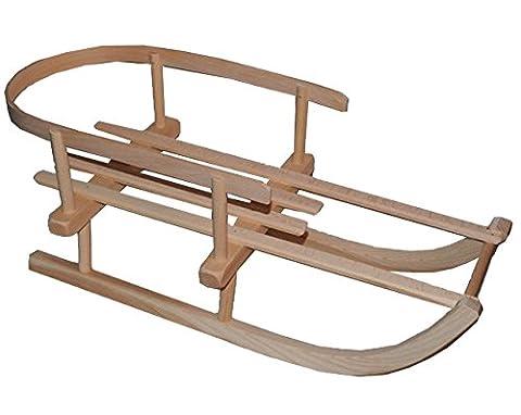 Puppenschlitten / kleiner Schlitten - mit Rückenlehne - aus stabilen Holz - universal passend - Davoser - Davos / Hörnerrodel / Hörnerschlitten - Holzschlitten / Rodelschlitten / Rodel - Puppenrodel - Winter - Puppenholzschlitten - Puppe / (Hörnerschlitten Mit Rückenlehne)