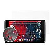 atFolix Schutzfolie passend für Nvidia Shield Tablet Folie, entspiegelnde & Flexible FX Bildschirmschutzfolie (2X)