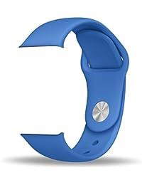 ZRO Smart Watch Correa, Silicona Suave Reemplazo de Banda Sport Band para Apple iWatch Serie 2/ Serie 1 42mm M/L, Azul Real