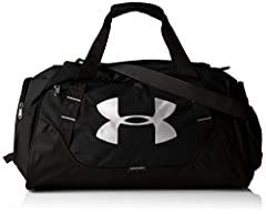 Idea Regalo - Under Armour 1300216 Undeniable Duffle 3.0, Borsone, Unisex adulto, Nero (Black/Black/Silver 001), L 82 litri