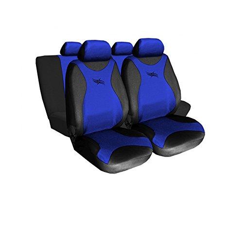 GSC Sitzbezüge Komplettset Autositzbezug Universal Blau, Turbo, kompatibel mit Suzuki Swift Suzuki Swift Turbo