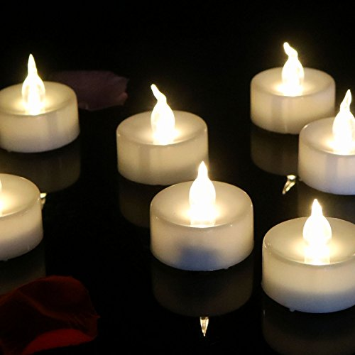 Youn GER Baby 24pcs cálida blanco FLAC Núcleo Timing Función LED té luz sin llama velas, velas LED (6horas en 18horas de) para Boda Navidad exterior fiesta decoración