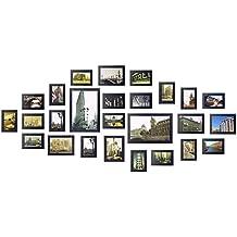 Yorbay- Conjunto de marcos de fotos para 26 fotos montado en la pared, Madera