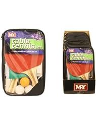 Juego de tenis de mesa (2 raquetas, 3 pelotas, red)