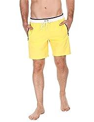 Zobello Mens Swim Shorts (41002C_Yellow _X-Large)