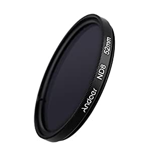 Andoer®52mm filtre à UV + CPL + ND8 circulaire filtre Kit circulaire polarisant filtre ND8 densité neutre avec sac pour Canon Nikon Pentax Sony DSLR Camera