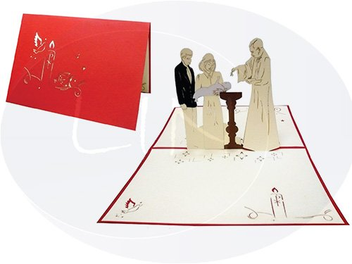 POP UP 3D Karte Glückwunschkarte Zur Taufe (#103)