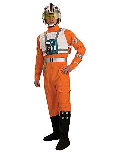 X-Wing Pilot Kostüm für Herren, (Kostüme Wing Wars Pilot X Star)